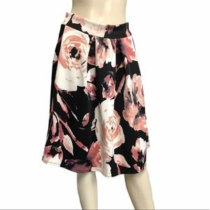 See you Monday floral flare stretch pull on skirt